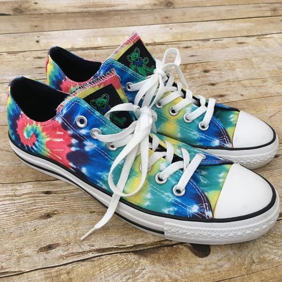 Grateful Dead Tie Dye Converse Shoes M 9.5 W 11.5